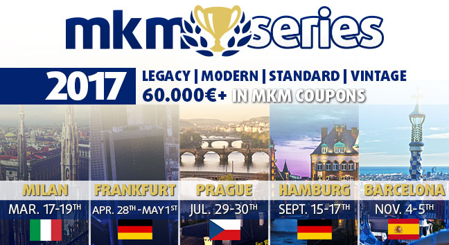 The MKM series lineup for 2017 switches out London for a second German event.