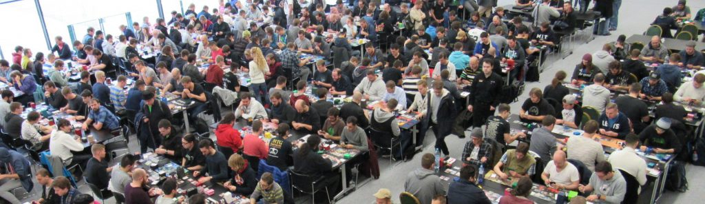 Saturday's Modern tournament attracted nearly 300 players. Photo: magiccardmarket